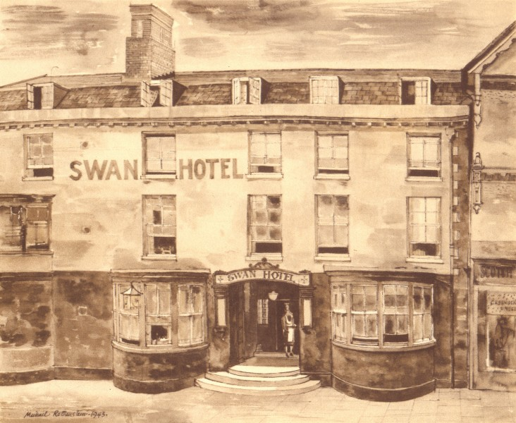 Associate Product STAFFORD. Swan Hotel. Staffordshire. By Michael Rothenstein 1948 old print