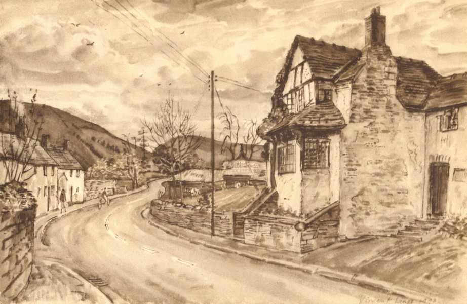 Associate Product NEW RADNOR. The Old Parsonage. Wales. By Vincent Lines 1948 vintage print