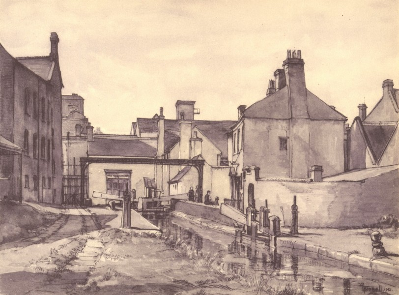 Associate Product KIDDERMINSTER. Mill Street Lock. Worcestershire. By Osmond H Bissell 1948