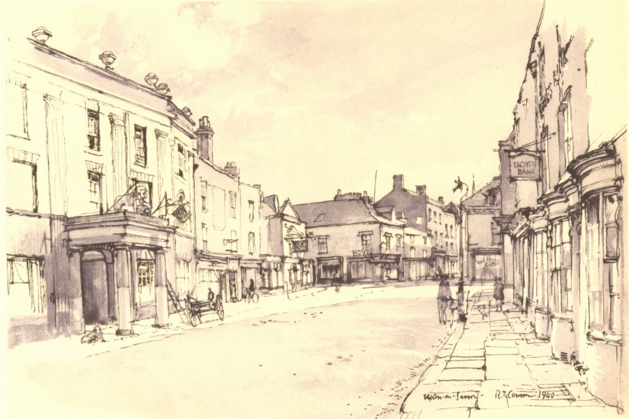 Associate Product WORCESTERSHIRE. Upton-on-Severn. By Raymond T Cowern 1948 old vintage print