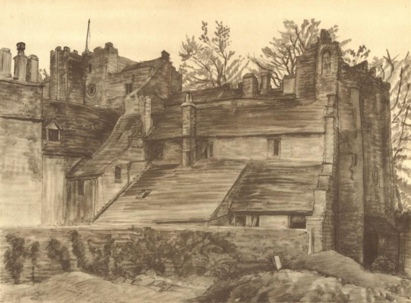 Associate Product TETBURY. Beverstone Castle, near Tetbury. Gloucestershire.By Louisa Puller 1948