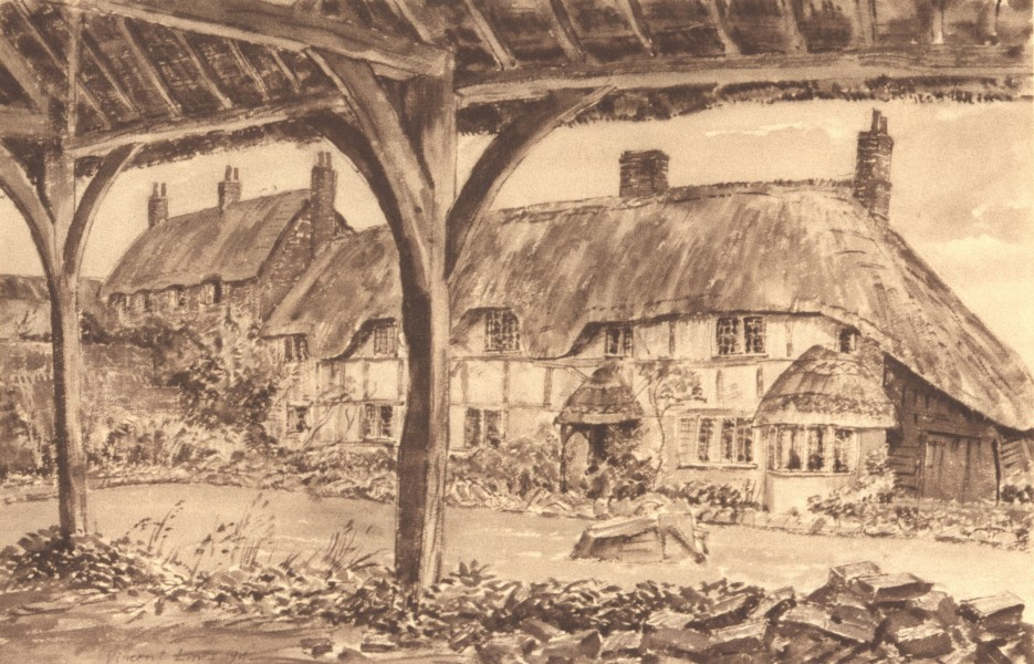 Associate Product OARE. The Old Oxyard. Wiltshire. By Vincent Lines 1949 vintage print