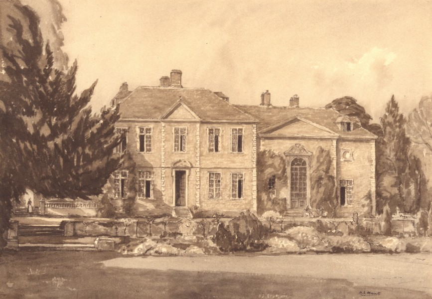 Associate Product WOODFORD. Heale House. Wiltshire. By HS Merritt 1949 old vintage print picture