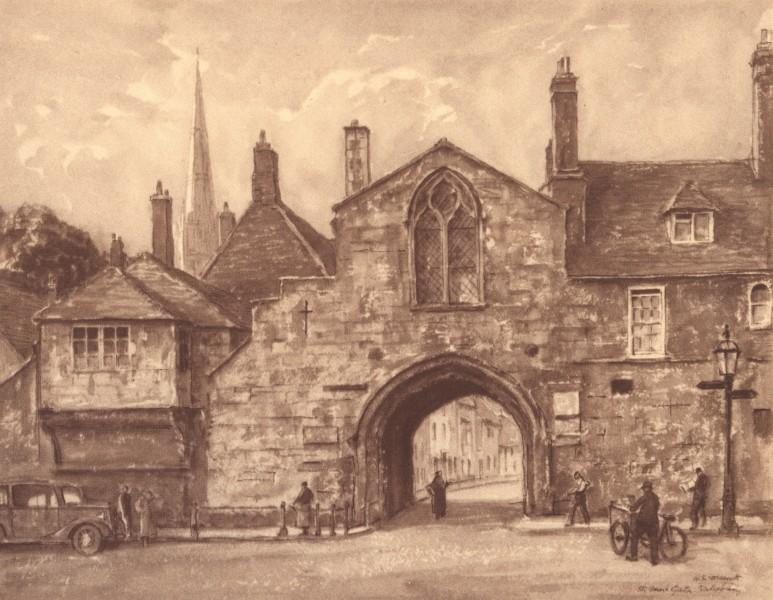 Associate Product SALISBURY. St. Anne's Gate. Wiltshire. By HS Merritt 1949 old vintage print