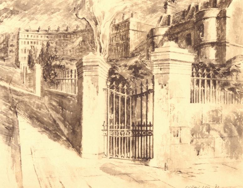 Associate Product BATH. Gateway, Cavendish Villa. Somerset. By Clifford Ellis 1949 old print