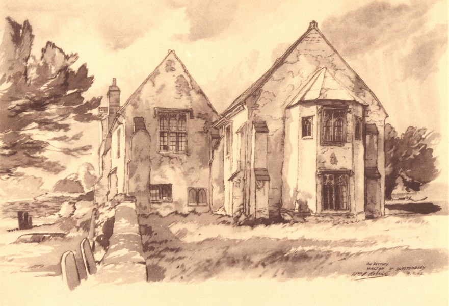 Associate Product WALTON. Old Rectory. Somerset. By WP Robins 1949 vintage print picture