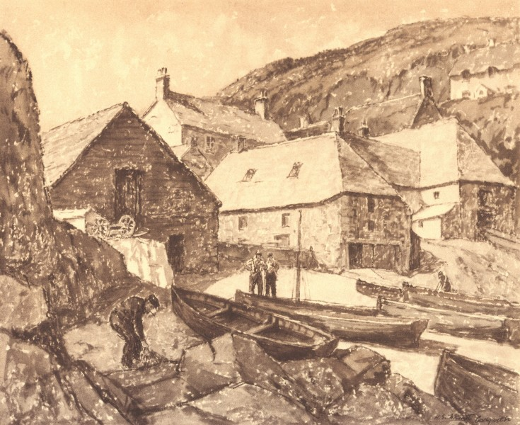 Associate Product CORNWALL. Cadgwith. By HS Merritt 1949 old vintage print picture