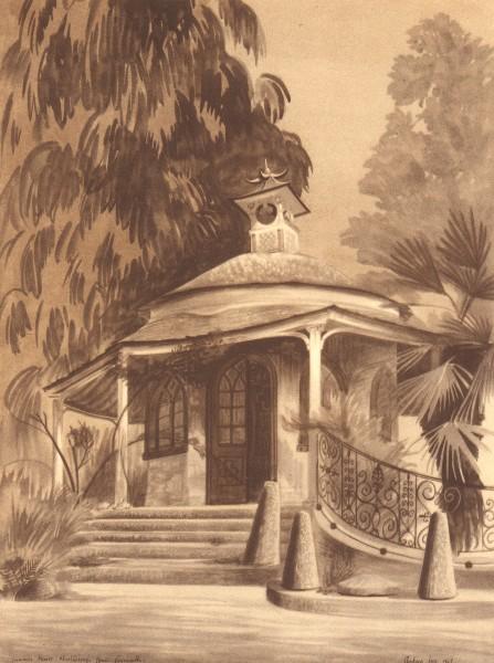 Associate Product FALMOUTH. Summer-House, Marlborough House. Cornwall. By Barbara Jones 1949