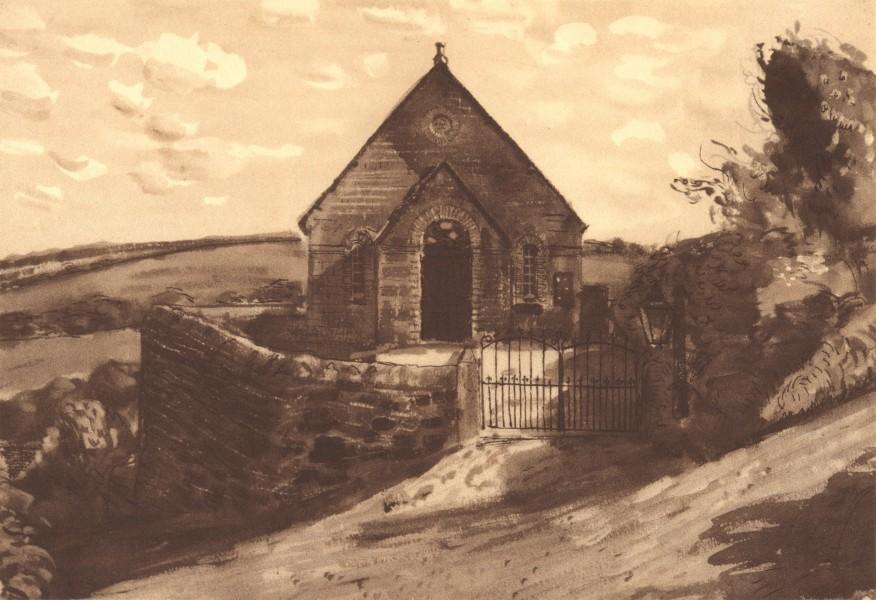 Associate Product TREMODRETT. Bible Christian Chapel. Cornwall. By Ruskin Spear 1949 old print