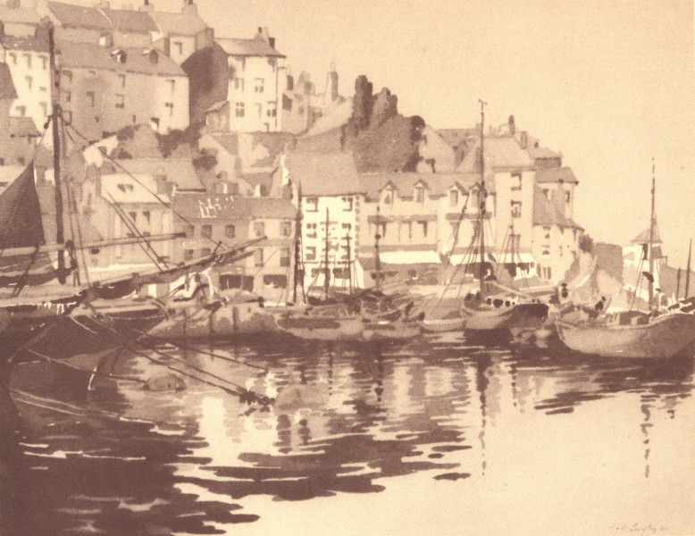 Associate Product DEVON. Brixham. By SS Longley 1949 old vintage print picture