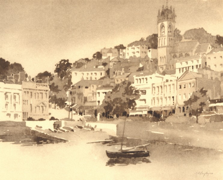 Associate Product DEVON. Torquay. By SS Longley 1949 old vintage print picture