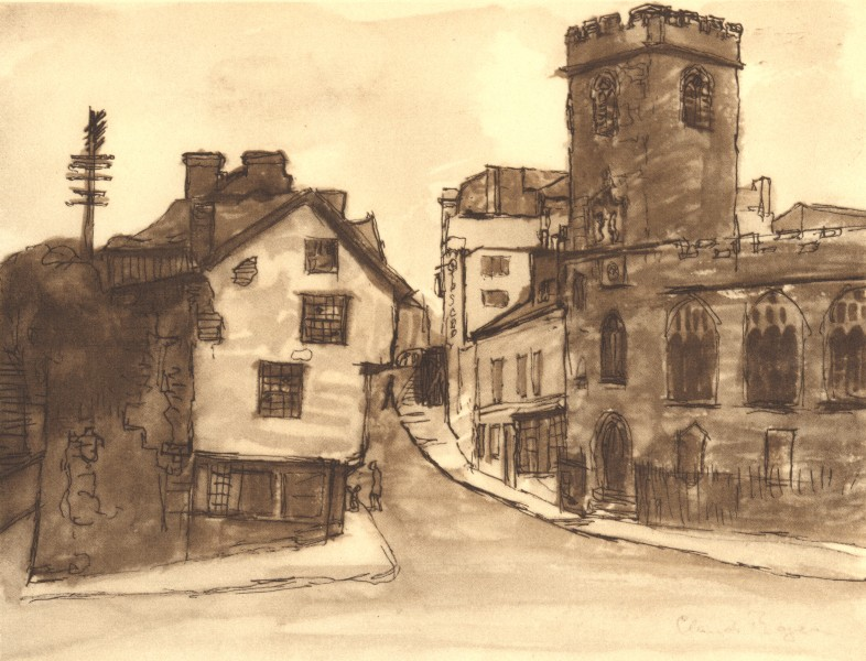 Associate Product EXETER. St. Mary Steps. Devon. By Claud Rogers 1949 old vintage print picture