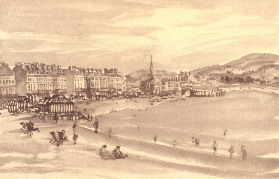 Associate Product DORSET. Weymouth. By Eve Kirk 1949 old vintage print picture