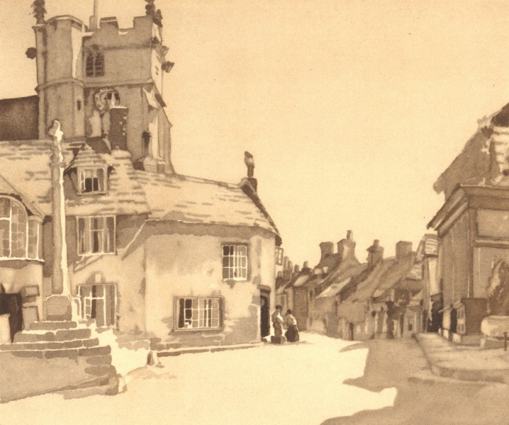 Associate Product CORFE. West Street. Dorset. By SS Longley 1949 old vintage print picture