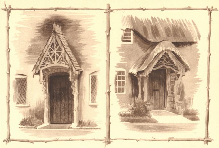 Associate Product CANFORD MAGNA. Cottages. Dorset. By Barbara Jones 1949 old vintage print