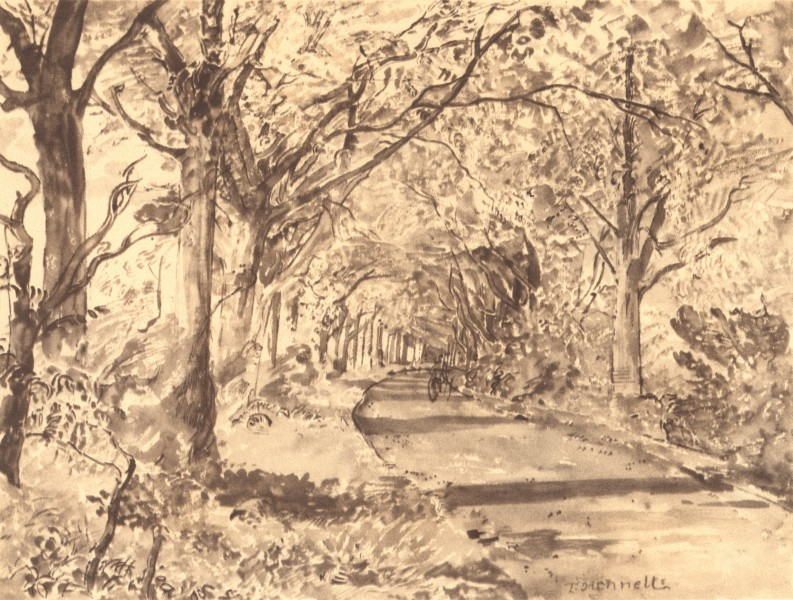 Associate Product LASHAM. Beech Avenue. Hampshire. By Thomas Hennell 1949 old vintage print