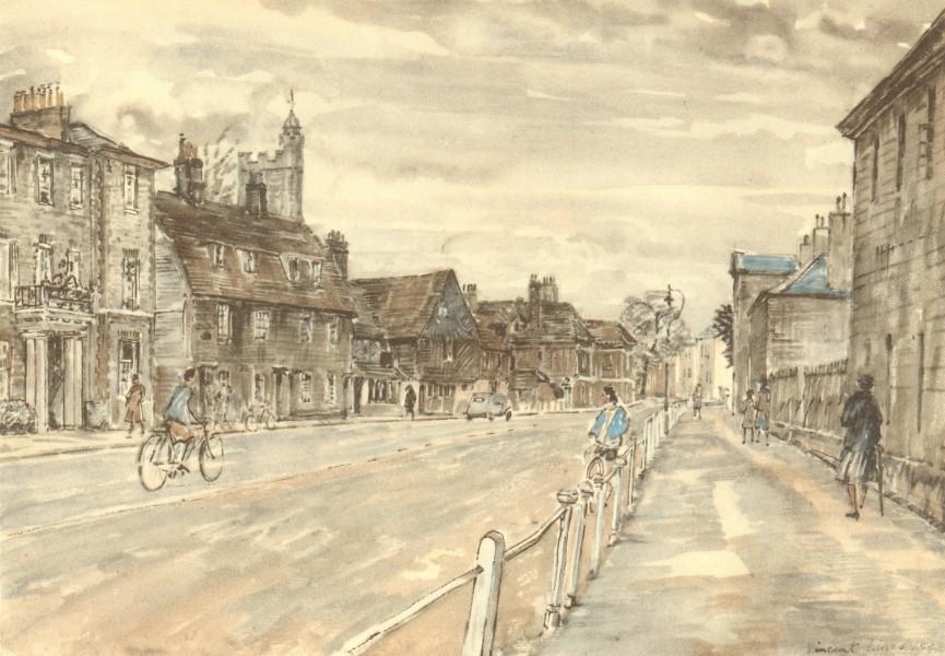 Associate Product SEVENOAKS. High Street. Kent. By Vincent Lines 1949 old vintage print picture