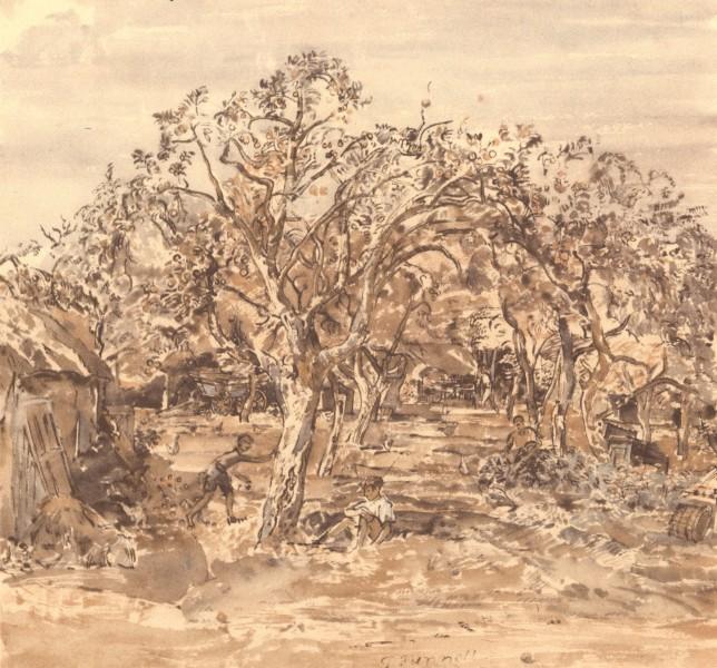 Associate Product HARTLEY BOTTOM. Walnut-tree Farm. Kent. By Thomas Hennell 1949 old print