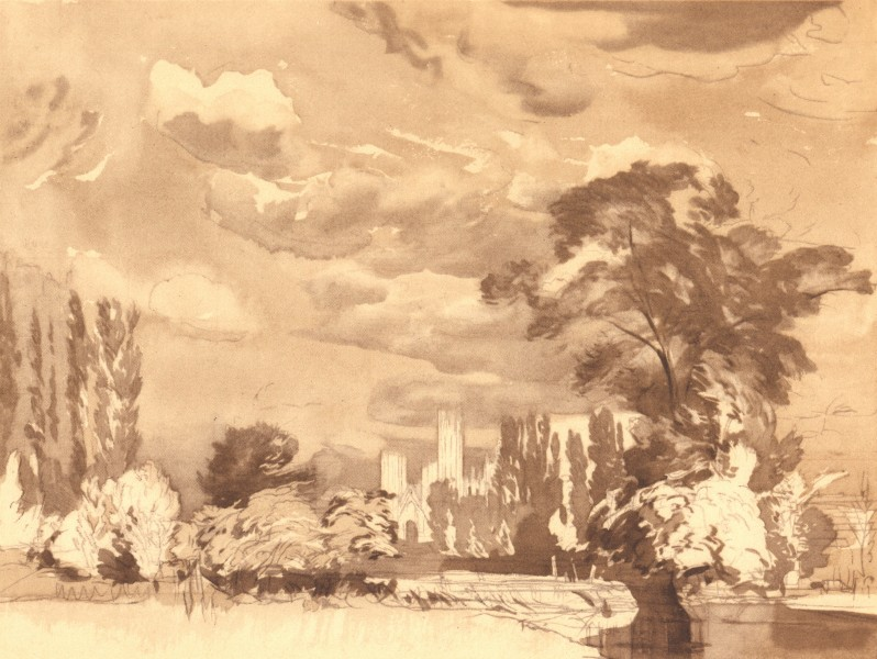 Associate Product KENT. Distant Prospect of Canterbury. By Aubrey Waterfield 1949 old print