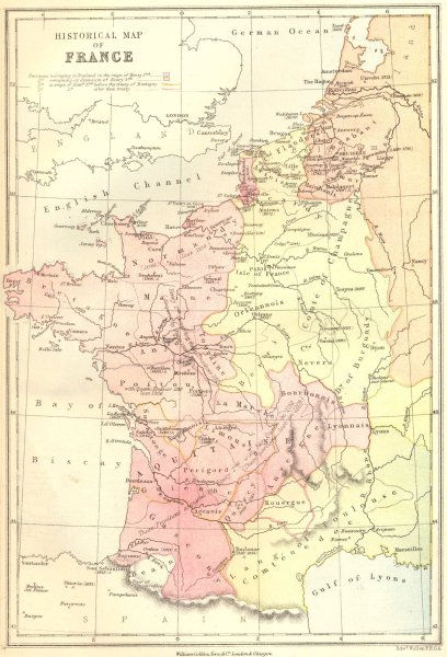 Associate Product FRANCE. Historical Map of 1870 old antique vintage plan chart