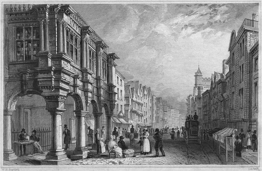 Associate Product DEVON. Guildhall, Fore Street, Exeter 1829 old antique vintage print picture