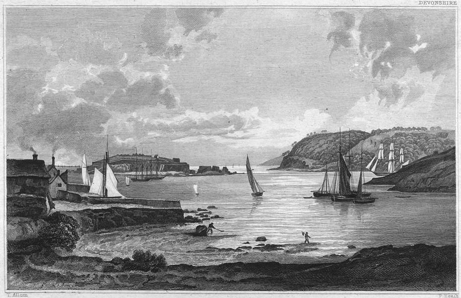 Associate Product DEVON. St. Nicholas's or Drake's Island, Mount Edgecumbe & Penlee Point 1829