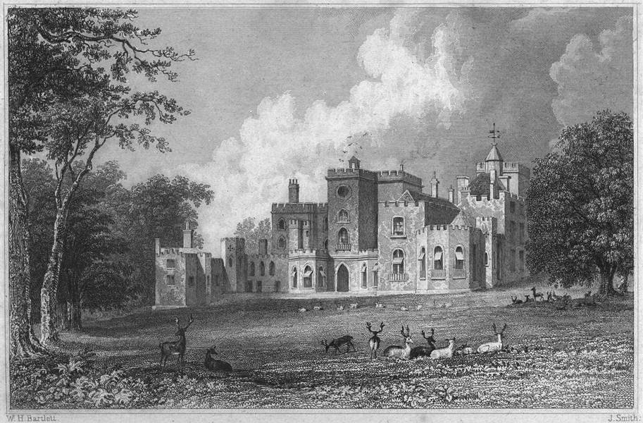 Associate Product DEVON. Powderham Castle 1829 old antique vintage print picture