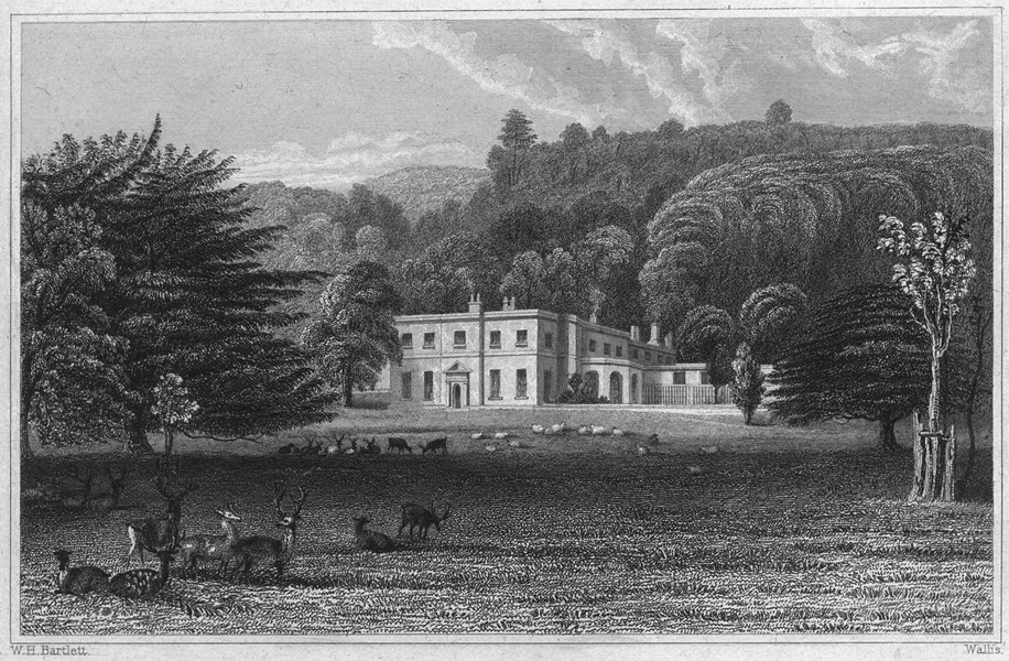Associate Product DEVON. Kellerton Park (The seat of Sir TD Agland) 1829 old antique print