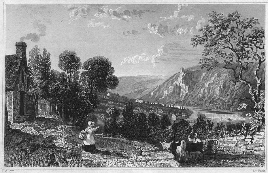 Associate Product DEVON. Weir Head, of the river Tamar, Devon & Cornwall 1829 old antique print