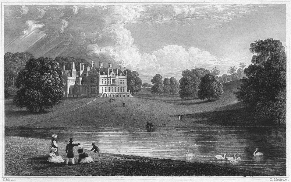 Associate Product DEVON. Kitley House (The seat of Edmund Pollexfen Bastard Esq MP) 1829 print