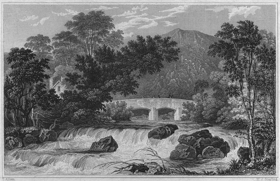 Associate Product DEVON. Shaugh Bridge, Bickleigh Vale 1829 old antique vintage print picture