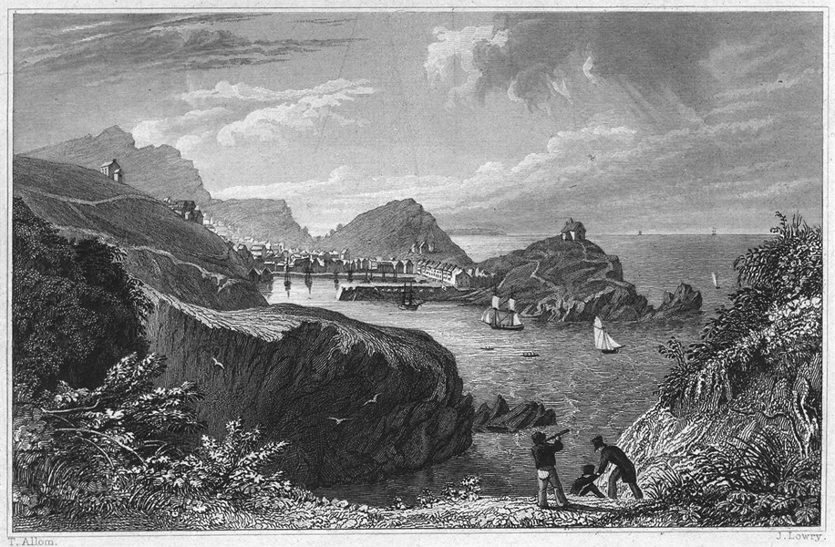 Associate Product DEVON. Ilfracombe Town and Harbour 1829 old antique vintage print picture