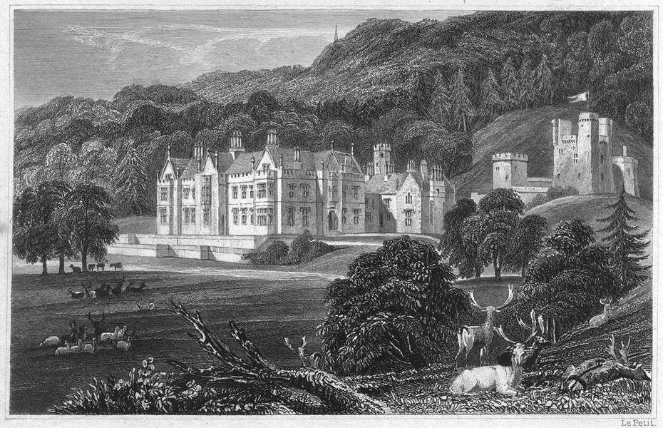 Associate Product DEVON. Mamhead Hall, near Dawlish (The seat of RW Newman Esq) 1829 old print
