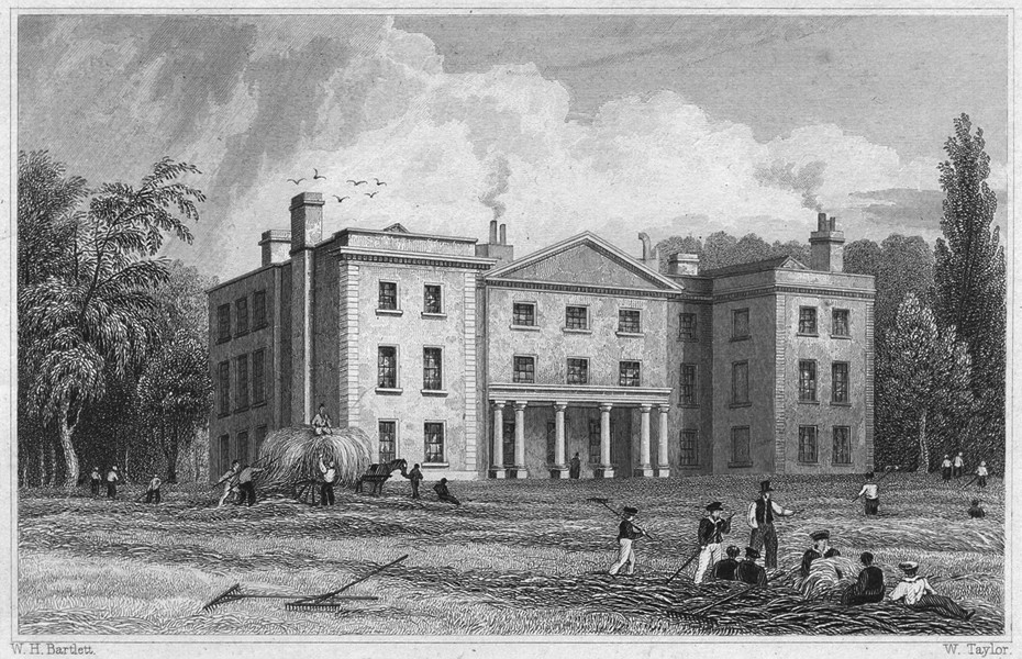 Associate Product DEVON. Mount Radford College, Exeter 1829 old antique vintage print picture