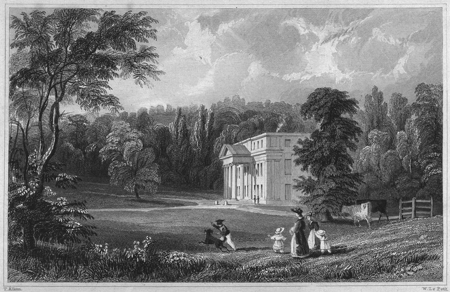 Associate Product DEVON. Follaton House (The seat of George Stanley Cary Esq) 1829 old print
