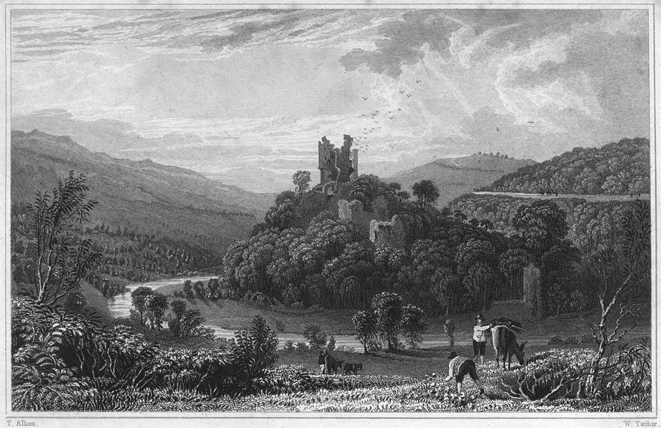 Associate Product DEVON. Oakhampton Castle (Okehampton Castle) 1829 old antique print picture