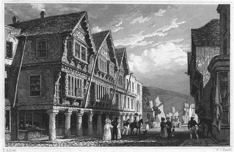 Associate Product DEVON. Dartmouth 1829 old antique vintage print picture