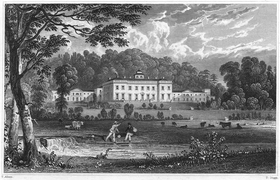 Associate Product DEVON. Castle Hill, nr South Molton (Seat of Hugh, Earl Fortescue) 1829 print