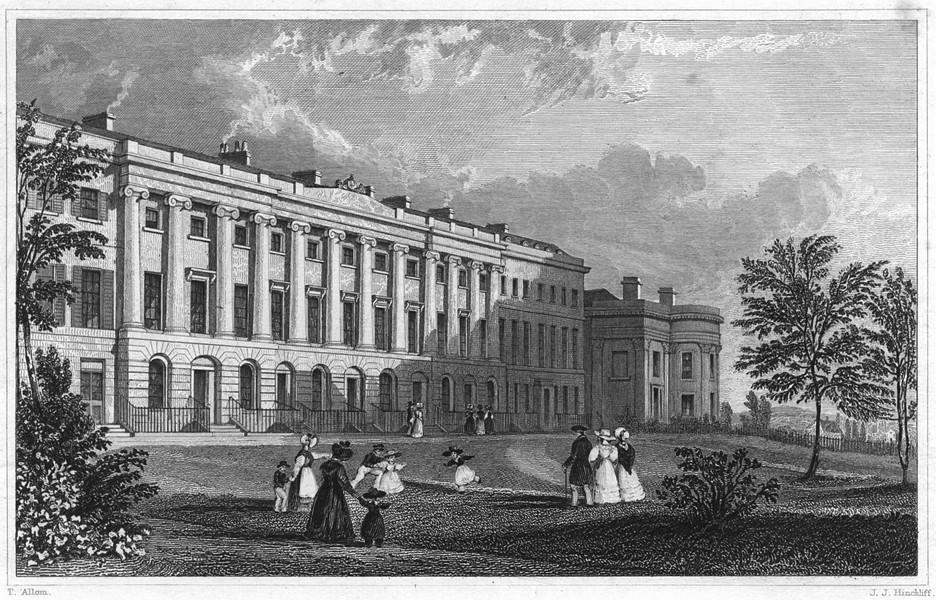 DEVON. St. Michael's Terrace, Stoke Damarel 1829 old antique print picture