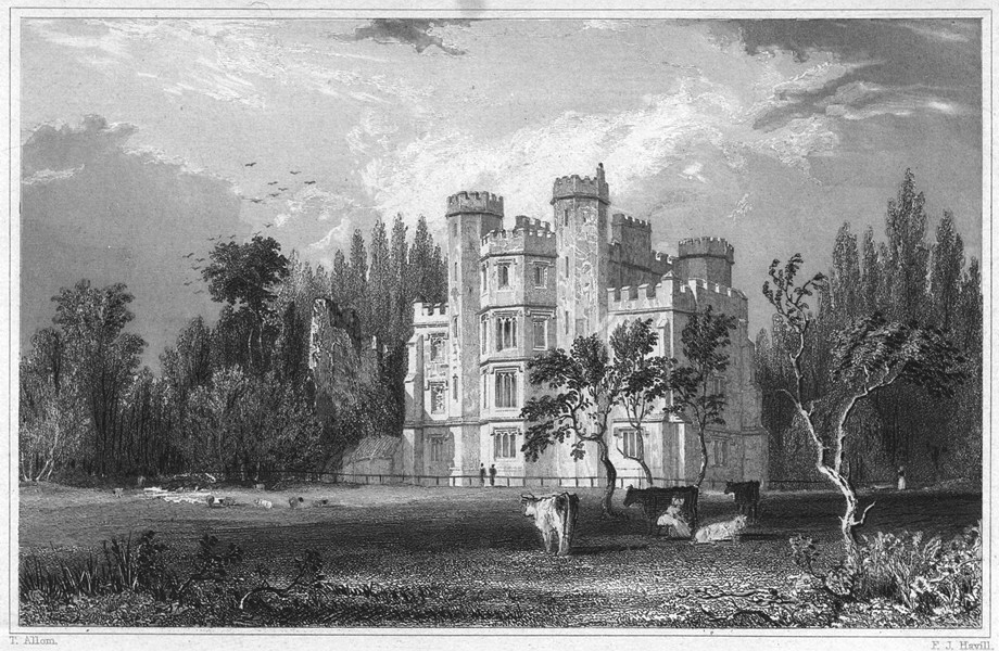 Associate Product DEVON. Buckfastleigh Abbey 1829 old antique vintage print picture