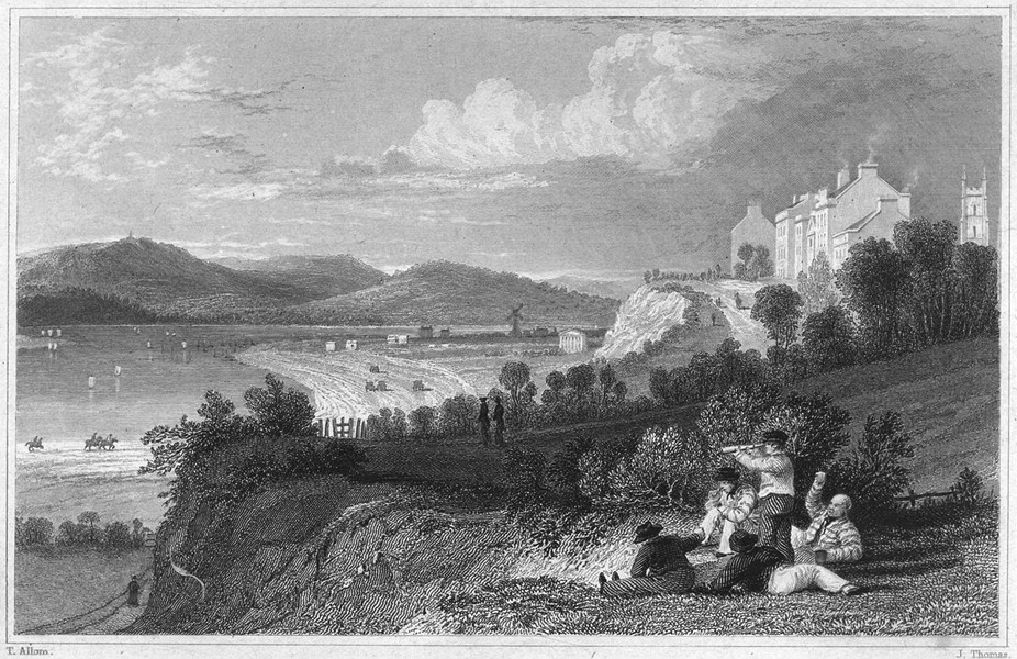 Associate Product DEVON. Exmouth, from the Gun Cliff 1829 old antique vintage print picture