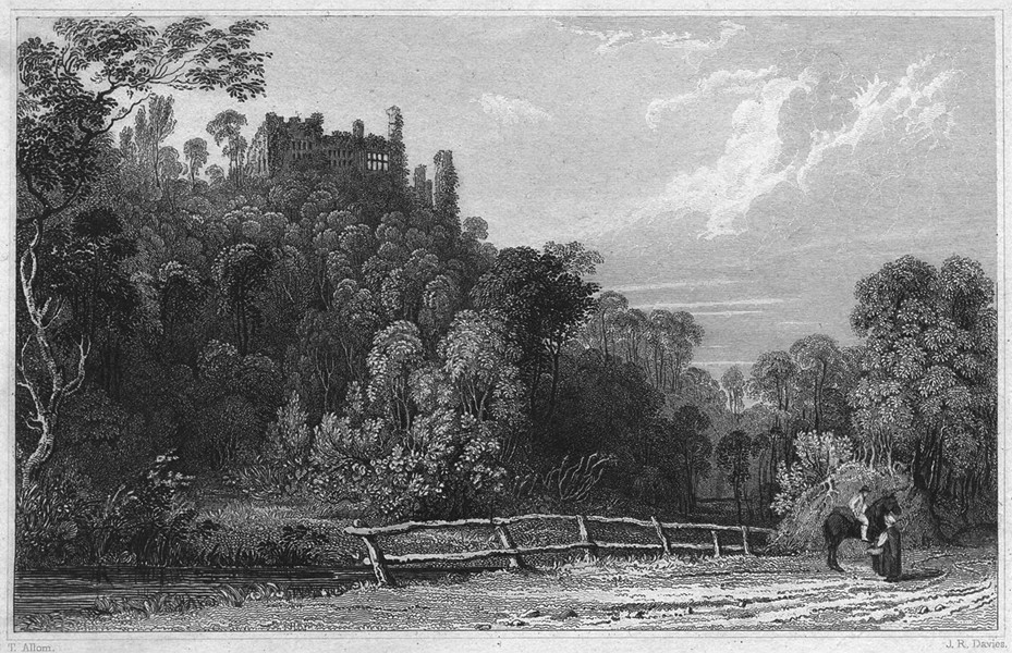 Associate Product DEVON. Berry Pomeroy Castle, near Totnes 1829 old antique print picture