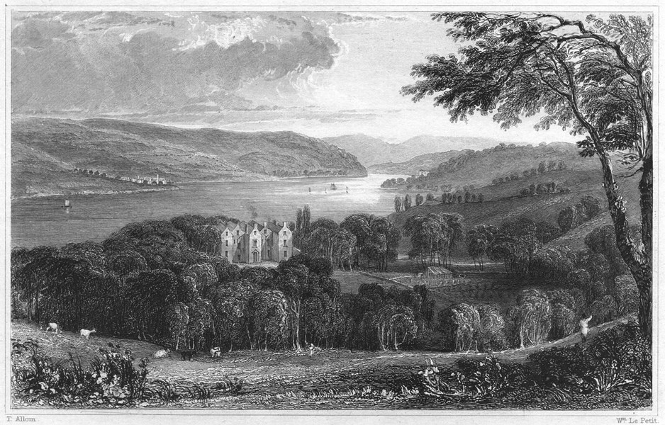 Associate Product DEVON. Warlegh House (The seat of Walter Radcliffe) 1829 old antique print