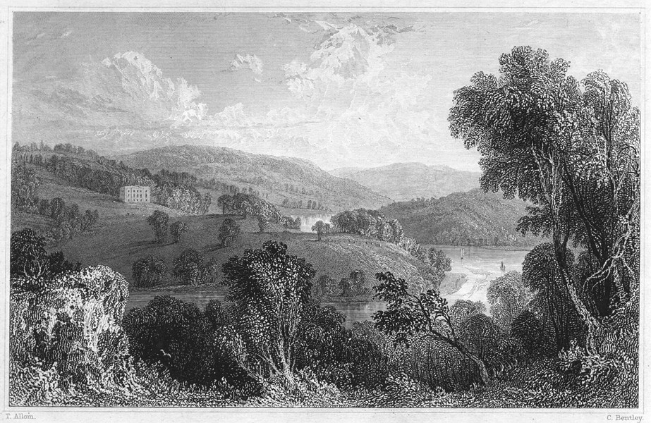 Associate Product DEVON. Sharpham, on the river Dart (The seat of Capt John Bastard, RN MP) 1829