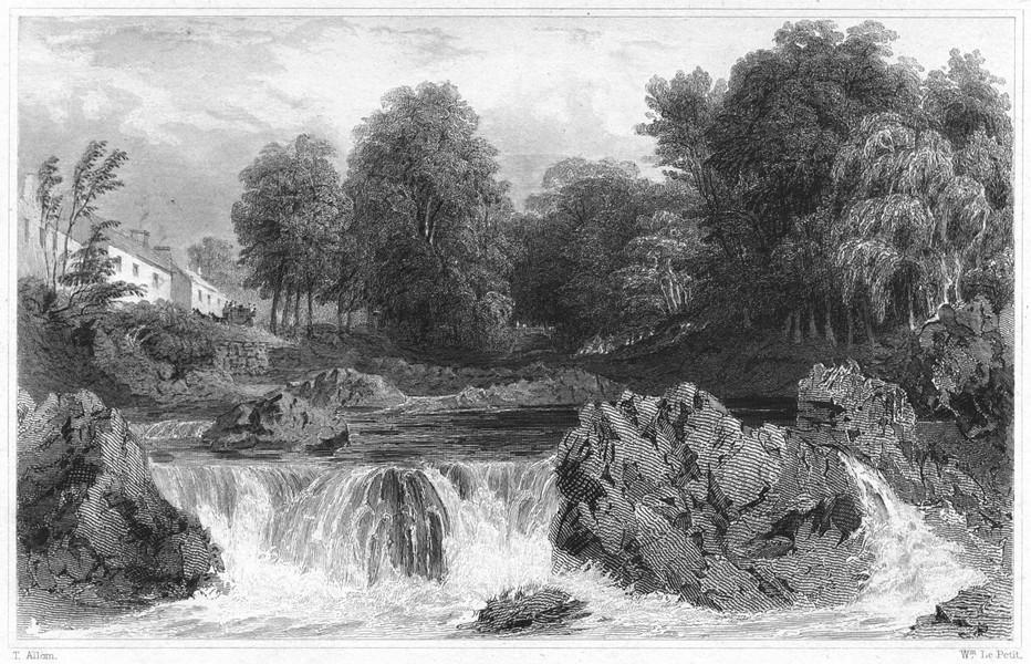 Associate Product DEVON. Ivy Bridge 1829 old antique vintage print picture