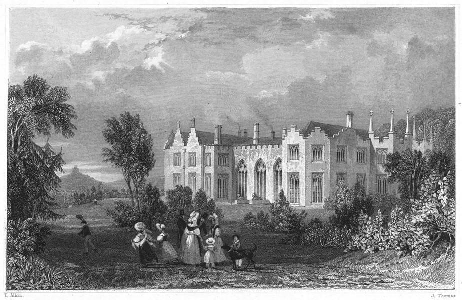 Associate Product DEVON. Lifton Park (The seat of JWH Arundel Esq) 1829 old antique print