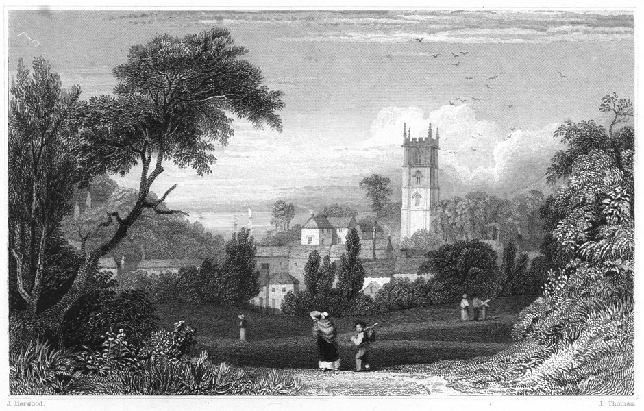 Associate Product DEVON. Berrynarbor, near Ilfracombe 1829 old antique vintage print picture