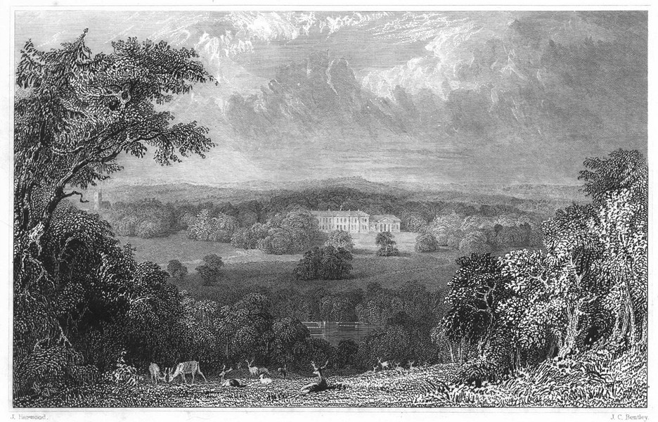 Associate Product DEVON. Werrington Park (The seat of His Grace the Duke of Northumberland) 1829