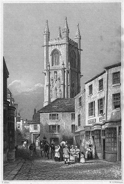 Associate Product CORNWALL. St. Austell. St Austle 1831 old antique vintage print picture