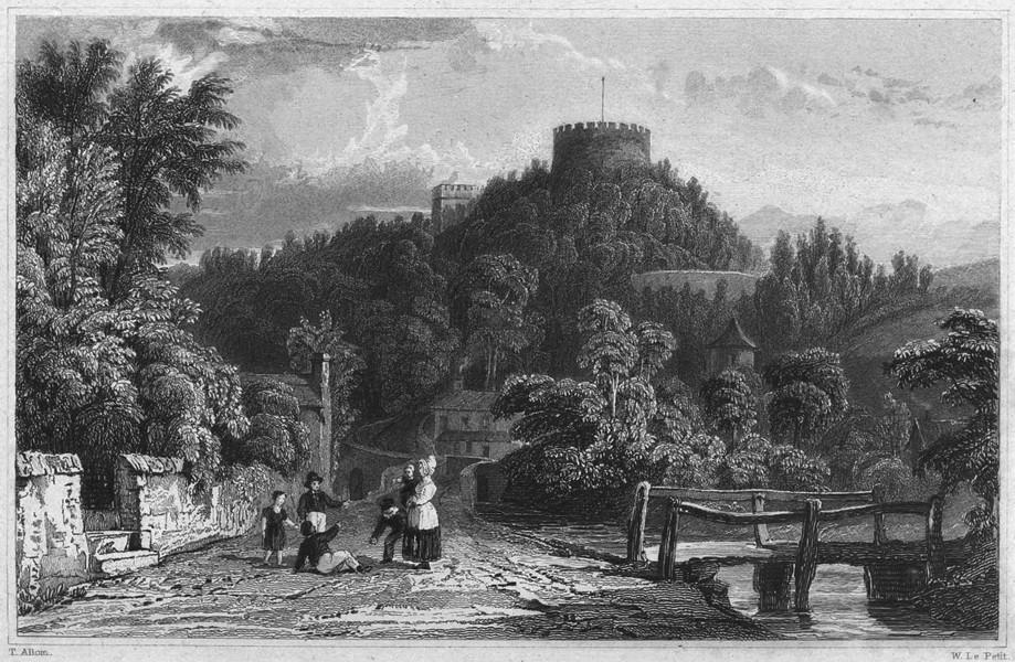 Associate Product CORNWALL. Trematon-Castle (The residence of Benjamin Tucker Esq) 1831 print